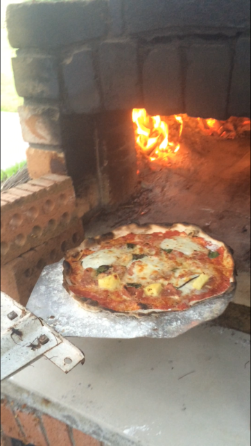 The Pizza Oven and a Delicious Pizza!
